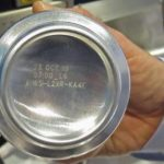 Aluminium can with labelling
